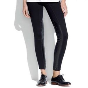 Madewell Faux Leather Black Legging Pants